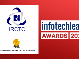InfotechLead Award 2017 e-Governance Project – IRCTC