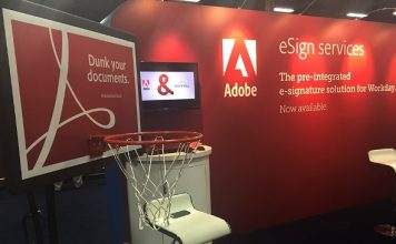 Adobe at a trade event