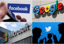 Google, Facebook social media