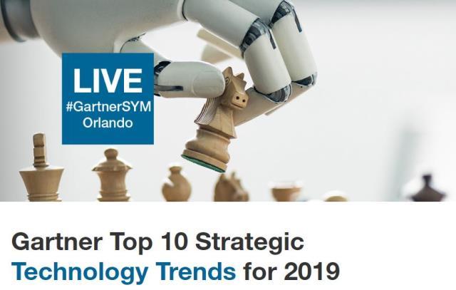 2019 Technology trends by Gartner